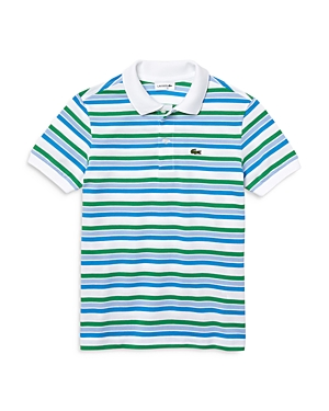 Lacoste Cottons BOYS' STRIPED POLO SHIRT - LITTLE KID, BIG KID