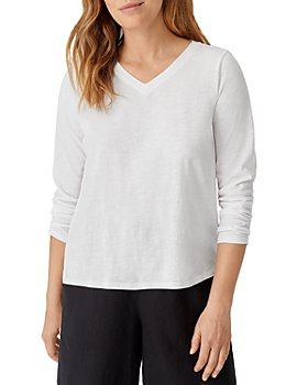 Eileen Fisher - Slubbed V Neck Top