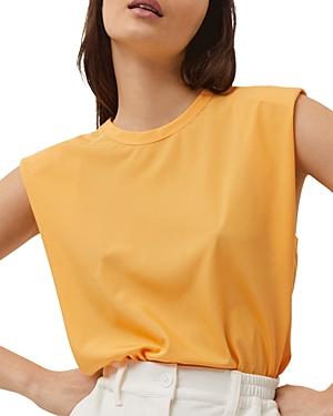 Shoulder Pad Sleeveless Top