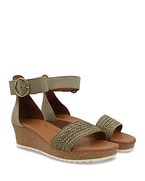 Paul Green Wedges WOMEN'S CALIFORNIA ANKLE STRAP WEDGE SANDALS