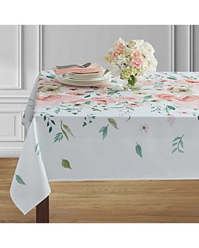 "Benson Mills for Bloomingdale's - Emme Indoor Outdoor Spillproof Coral Tablecloth, 104"" x 60"" - 100% Exclusive"