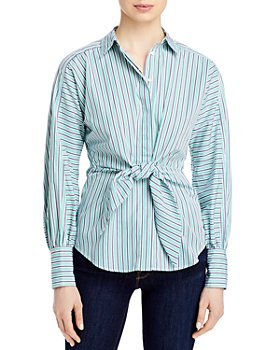Ralph Lauren - Striped Tie Front Shirt