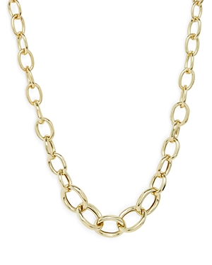 Aqua Graduated Chain Link Collar Necklace in Gold Tone, 19-22 - 100% Exclusive