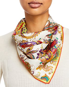 Fraas - Paisley Square Silk Scarf