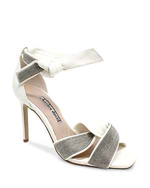 Women's Espionage Square Toe Chain Detail Crossover High Heel Sandals