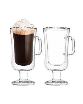 Godinger - Double Walled Irish Coffee Mug, Set of 2