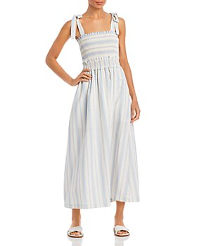Lost and Wander - Beachside Pier Striped Maxi Dress