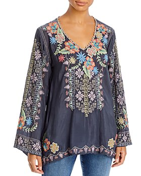 Johnny Was - Riveda Embroidered Top
