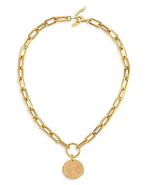 18K Gold-Plated Elijah Coin Pendant Necklace