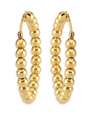Maison Irem Beaded Hoop Earrings in 18K Gold Plated Sterling Silver