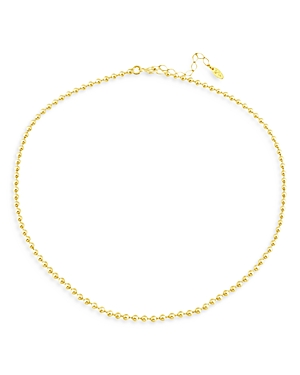Polished Bead Choker Necklace