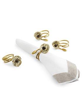 Michael Aram - Anemone Napkin Rings, Set of 4