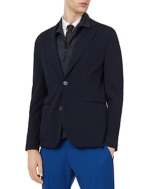 Seersucker Stripe Slim Fit Blazer