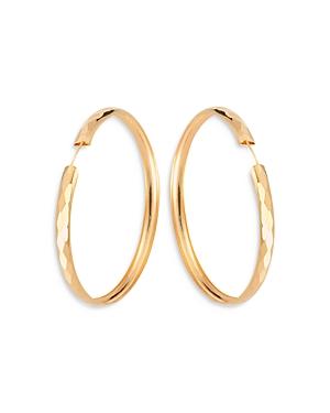 Hoop Leila Textured Continuous Hoop Earrings