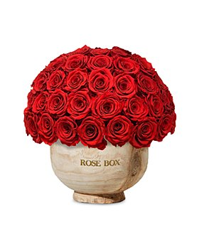 Rose Box NYC - Extra Large Wooden Half Ball of Roses