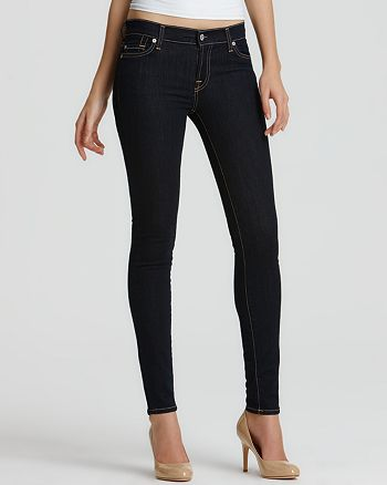 "7 For All Mankind - ""The Skinny"" Jeans in Rinsed Indigo Wash"