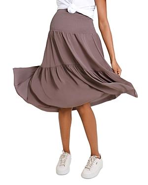Maternity Smocked Pull-On Skirt