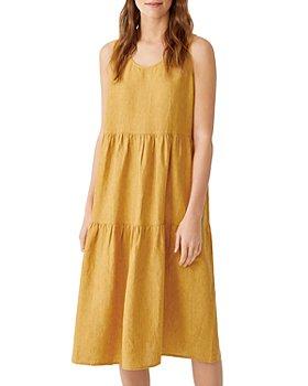 Eileen Fisher - Tiered Organic Linen Dress