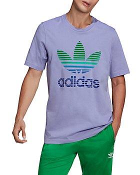 adidas Originals - Cotton Ombré Flocked Trefoil Logo Graphic Tee
