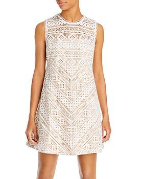 Endless Rose - Geometric Lace Mini Dress