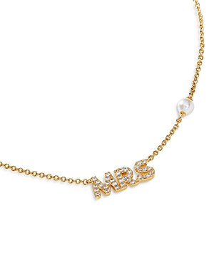 Nadri Pave Mrs & Simulated Pearl Accent Pendant Necklace, 16-18