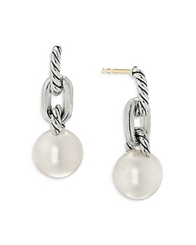 David Yurman - Sterling Silver DY Madison® Cultured Freshwater Pearl Short Chain Drop Earrings