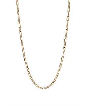 """Roberto Coin - 18K Yellow Gold Polished & Textured Paperclip Link Chain Necklace, 17"""""""
