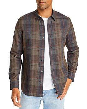 Vince - Slim Fit Forest Plaid Button Front Shirt