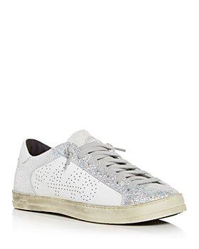P448 - Women's John Glitter Low Top Sneakers - 100% Exclusive