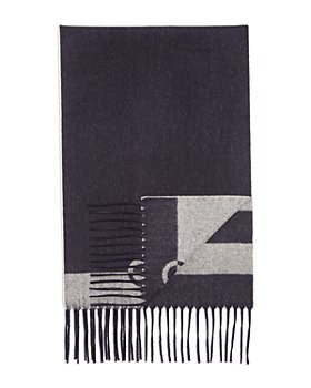 Salvatore Ferragamo - Striped Double Face Fringed Wool/Cashmere Scarf