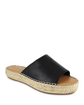 Splendid - Women's Maia Almond Toe Espadrille Platform Slide Sandals