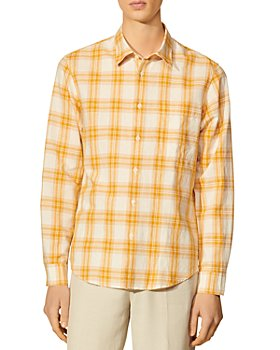 Sandro - Tartan Orange Check Shirt