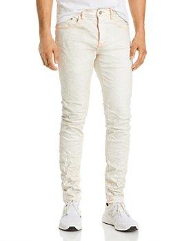 Purple Brand - White Neon Stitch Skinny Jeans