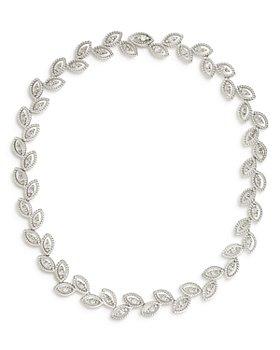 """Roberto Coin - 18K White Gold New Barocco Diamond Collar Necklace, 18"""""""