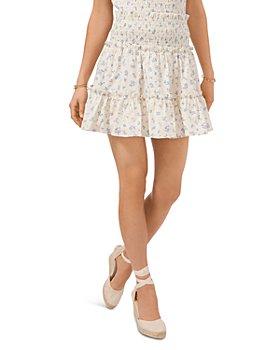 1.STATE - Tiered Ruffled Mini Skirt