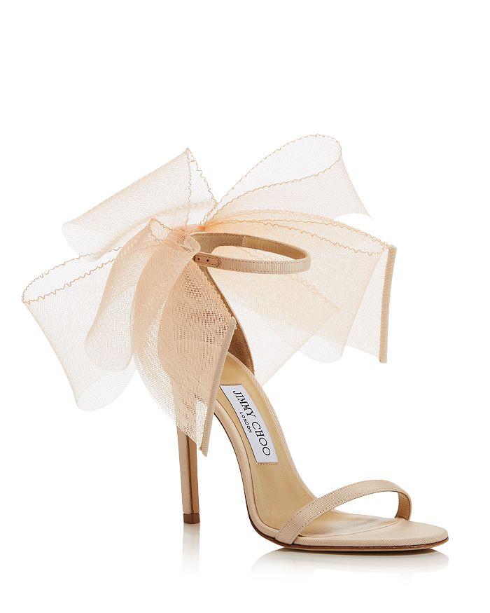 Jimmy Choo - Women's Aveline 100 Bow High Heel Sandals - 100% Exclusive