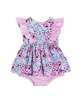 Pippa & Julie - Girls' Floral Print Ruffle Dress - Baby