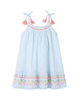 Peek Kids - Girls' Striped Lurex Embroidered Dress - Little Kid, Big Kid