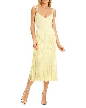 Hervé Léger - Geometric Fringe Cocktail Dress