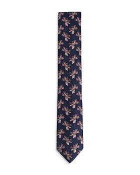 Ted Baker - Jacquard Floral Silk Skinny Tie