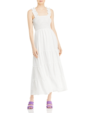 Smocked Gingham Maxi Dress