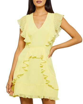 BCBGMAXAZRIA - Flounce Ruffled Mini Dress