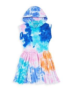 CHASER - Girls' Tie Dye Terrycloth Hooded Mini Dress - Little Kid, Big Kid