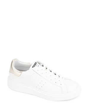 Kenneth Cole Women's Kam Leather Lace Up Platform Sneakers