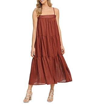 DKNY - Cami Ruched Panel Maxi Dress