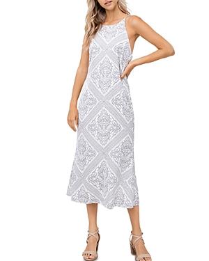Bandana Print Midi Slip Dress