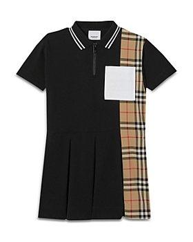 Burberry - Girls' Serena Piqué Polo Shirt Dress - Little Kid, Big Kid