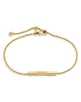 Gucci - 18K Yellow Gold Link To Love Bar Bracelet