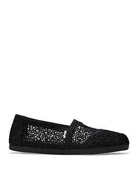 TOMS - Women's Alpargata Moroccan Crochet Almond Toe Classic Flats