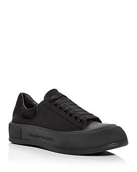 Alexander McQUEEN - Men's Deck Suede Heel Detail Low Top Sneakers